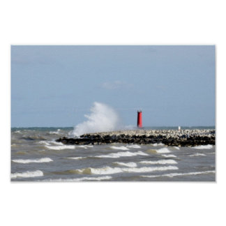 Sheboygan lighthouse poster