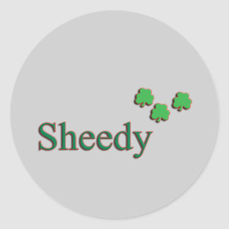 Sheedy Family Round Sticker