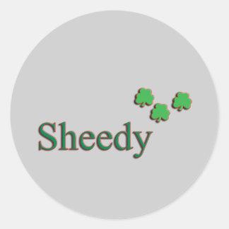 Sheedy Family Round Sticker
