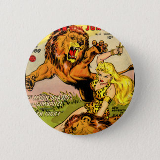 Sheena Queen of the Jungle 6 Cm Round Badge