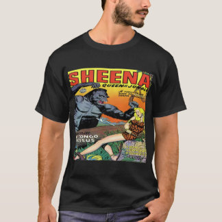 Sheena Queen of the Jungle Classic Covers #8 -Dark T-Shirt