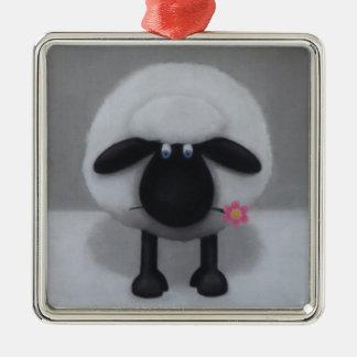 Sheep - A Flower For Ewe Christmas Ornament