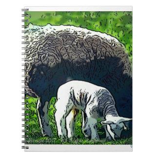 Sheep and lamb cartoon notebook