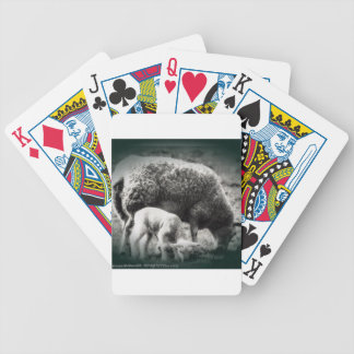 Sheep and lamb mono picture bicycle playing cards