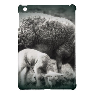 Sheep and lamb mono picture cover for the iPad mini