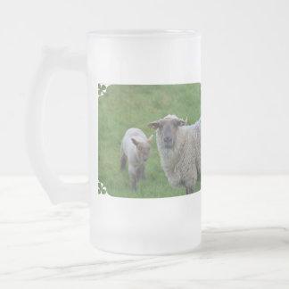 Sheep and Lamb Beer Mug