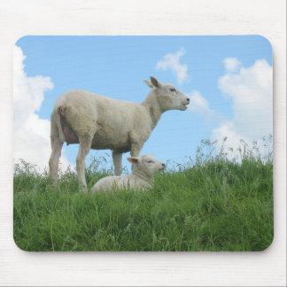 Sheep and Little Lamb Computer Mousepad