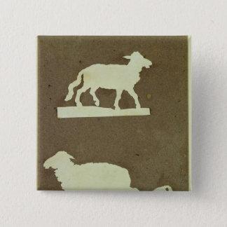 Sheep and Sheep with Lamb 15 Cm Square Badge