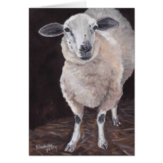 Sheep Animal Art Note Card