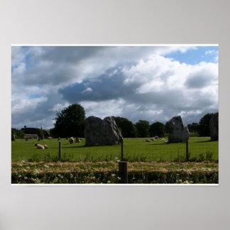 Sheep at Avebury Poster