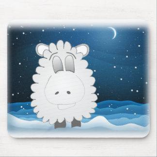 sheep at night mouse pad