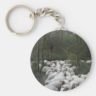 Sheep Basic Round Button Key Ring