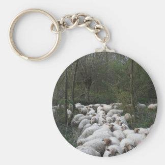 Sheep Basic Round Button Key Ring