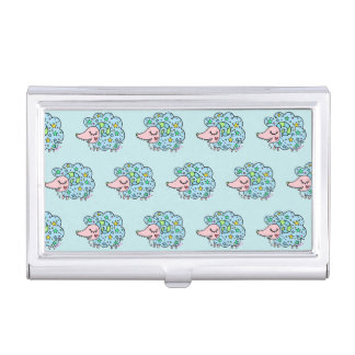 Sheep (blue) of star handle business card holder