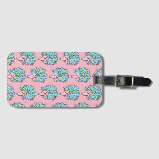 Sheep (blue) of star handle luggage tag