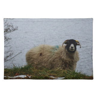 Sheep by the water placemat