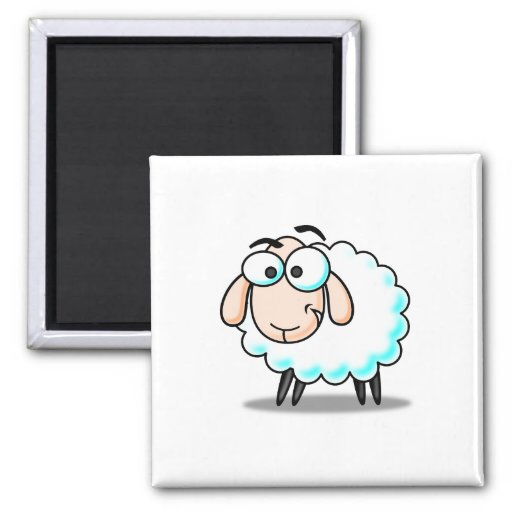 Sheep cartoon magnets