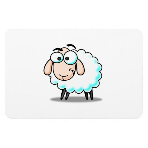 Sheep cartoon flexible magnets