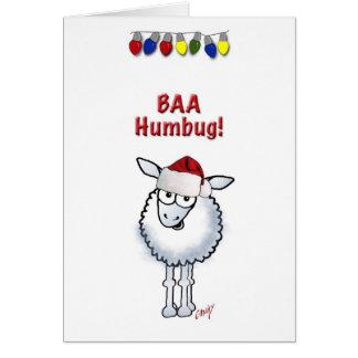 Sheep Christmas BAA Humbug Greeting Card