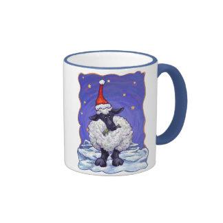 Sheep Christmas Ringer Mug