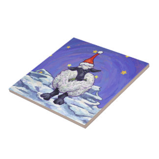Sheep Christmas Ceramic Tiles