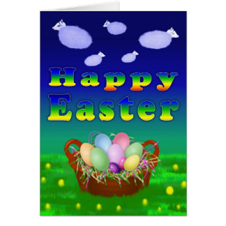 Sheep Cloud Easter Card