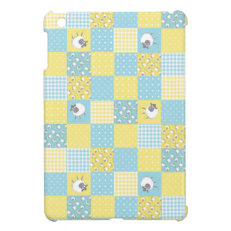 Sheep, Country Faux Patchwork iPad Mini Savvy Case iPad Mini Case
