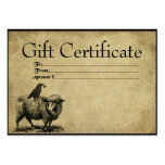 Sheep- Crow Stack- Prim GIft Certificate Cards