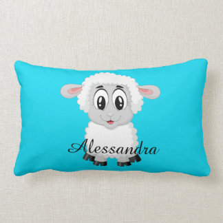 Sheep cute animal farm kids room nursery lumbar cushion