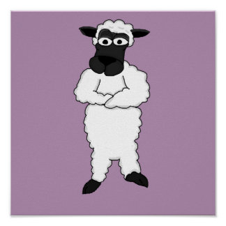 Sheep design cards and paper products poster