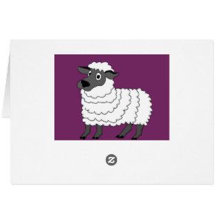 Sheep design stationery card