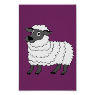 Sheep design stationery poster