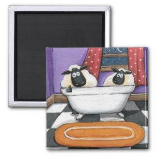 Sheep Dip | Sheep Taking a Bath Illustration Magnet