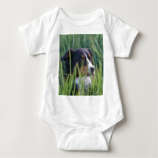 Sheep Dog in Grass Baby Bodysuit