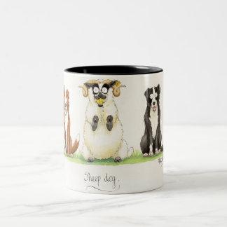 'Sheep Dog' Mug. Two-Tone Mug