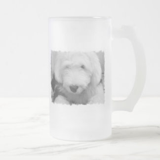 Sheep Dog Photo Frosted Beer Mug