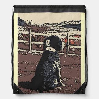 Sheep Dog Waits Drawstring Bag