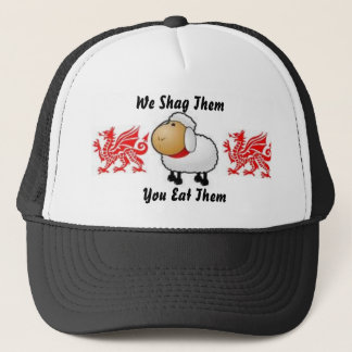 sheep, dragon, dragon, We Shag The... - Customized Trucker Hat