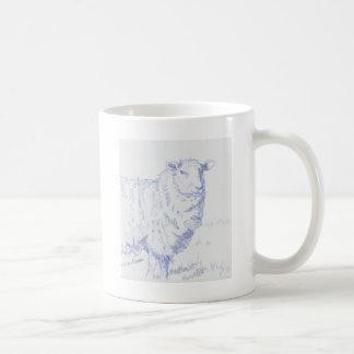 sheep drawing basic white mug