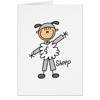 Sheep Dress Up T-shirts and Gifts Card