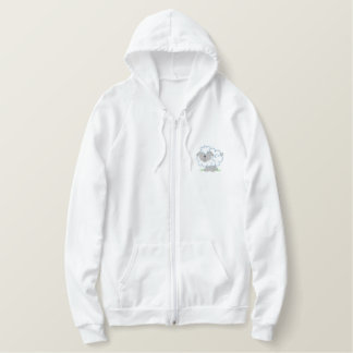 Sheep Embroidered Hoodie