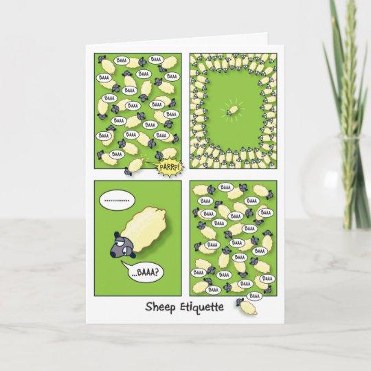 Sheep Etiquette (birthday) Card