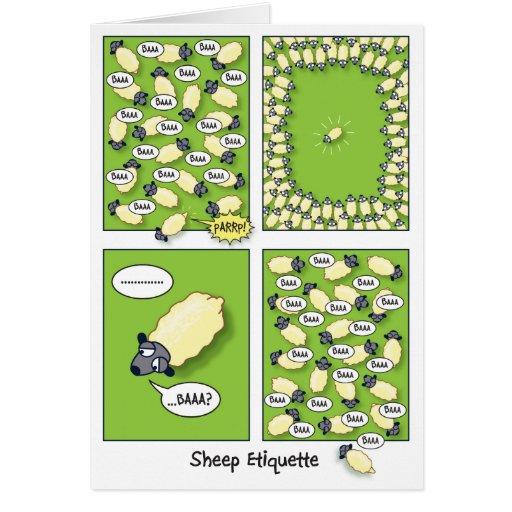 Sheep Etiquette (birthday) Cards