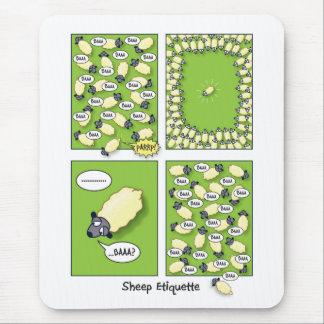 Sheep Etiquette Mouse Mat