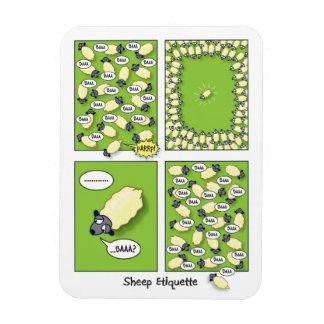 Sheep Etiquette Rectangular Photo Magnet