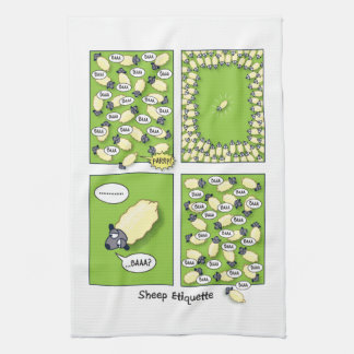 Sheep Etiquette Tea Towel