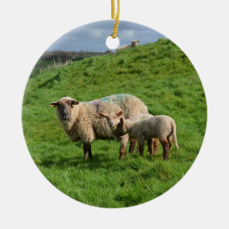 Sheep Family Christmas Ornament