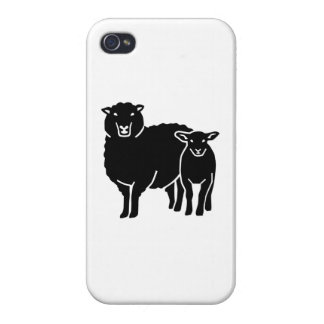 Sheep family cases for iPhone 4