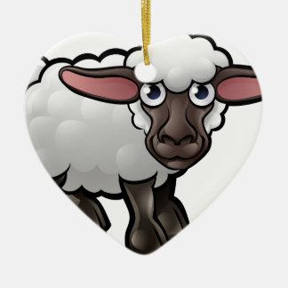 Sheep Farm Animals Cartoon Character Christmas Ornament