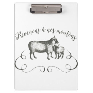 Sheep Farm Funny French Expression Vintage Style Clipboards